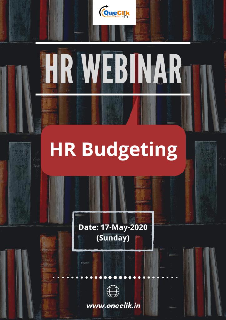 20th HR Webinar on HR Budgeting: