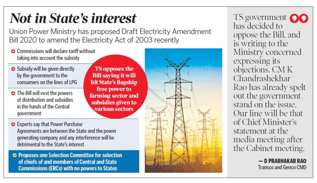 Telangana to oppose draconian power amendment Bill