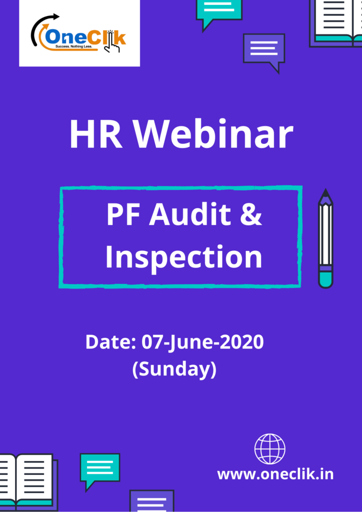HR Webinar on PF Audit & Inspection