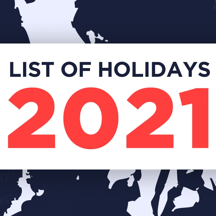 Holidays List, 2021: State Wise (part 2)