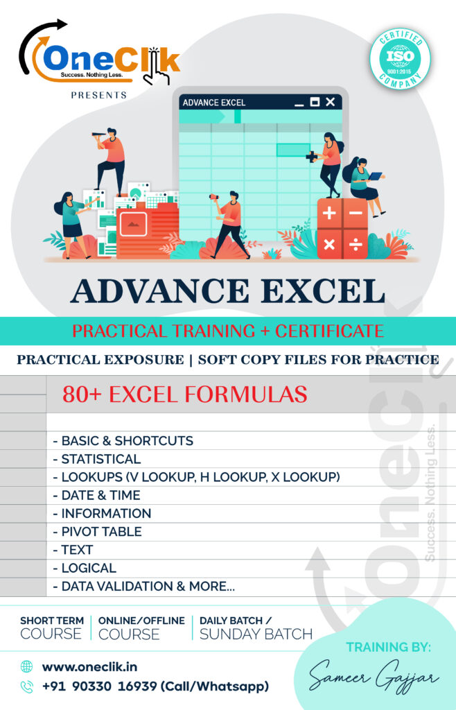 Advanced Excel Practical Training + Certificate