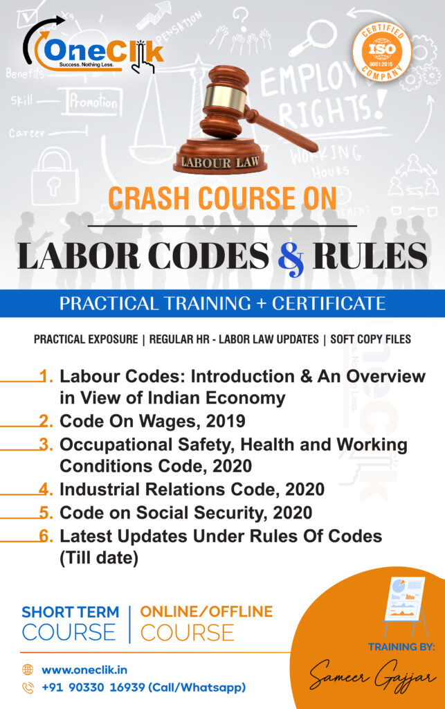 Labor Code,2020 & Rules Practical Training + Certificate (Crash Course)